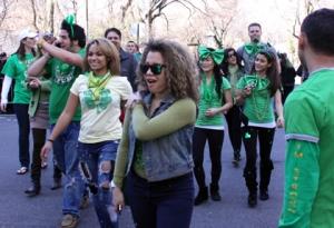 Photo by Mark Bergin. At the 2011 NYC St. Patrick's Day parade